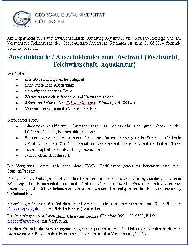 teilen mit - Uni Gottingen Bewerbung
